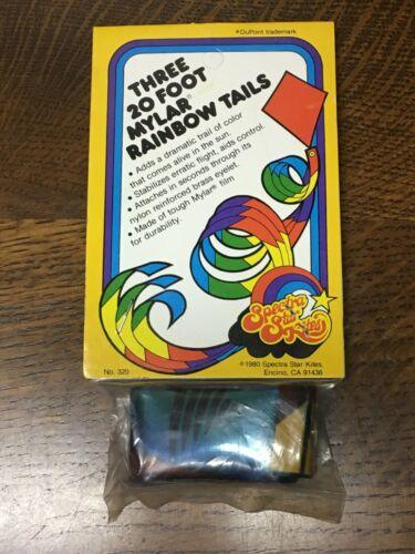1980 Spectra Star Kites mylar rainbow tails NIP