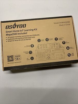 Osoyoo Smart Home Iot Learning Kit With Mega2560 For Arduino Wooden House Model