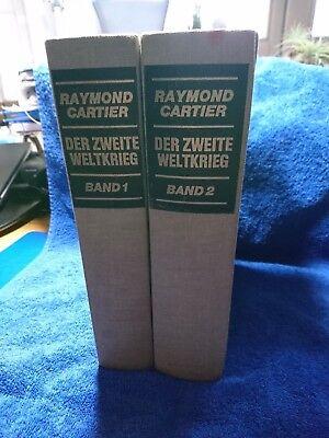 """Gebraucht, 2 Bände/Bücher """"Der zweite Weltkrieg"""" Band 1 und 2, Raymond Cartier  gebraucht kaufen  Gerzen"""