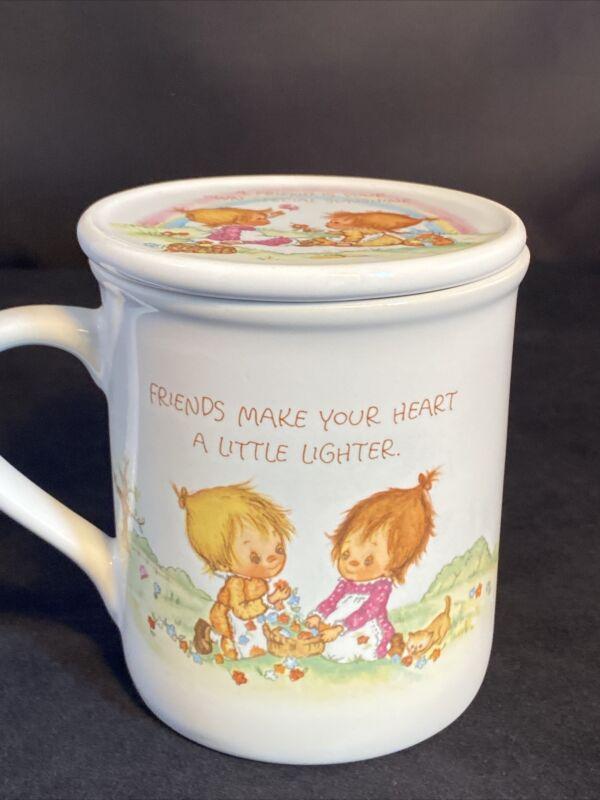 1983 BETSEY CLARK Mug Mates HALLMARK Friends Make Your Heart Lighter W/Coaster
