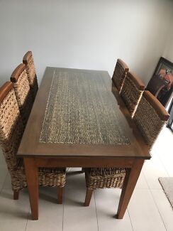 Wanted: Stunning Dining Table & 6 Chairs Domayne - Wicker