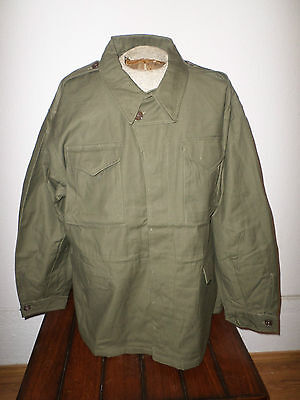 WWII U.S MILITARY ARMY REPRODUCTION M-43 FIELD JACKET MODEL 43 SIZE 42 REGULAR