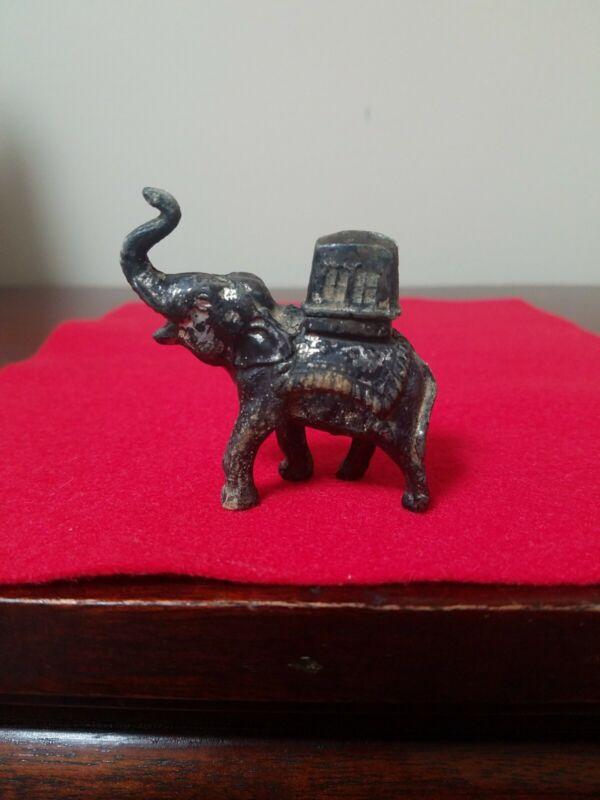 Unique Vintage Japan Metal Elephant Cigarette Lighter