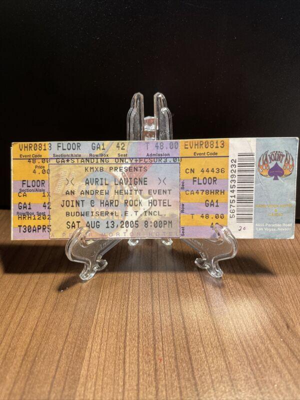 Avril Lavigne Concert Ticket Unused Vintage August 13 2005 Joint Las Vegas
