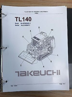 Takeuchi Tl140 Crawler Loader Parts Manual Sn 21400011 And Up