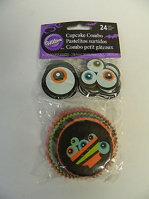 Wilton Ghoulish Gourmet Halloween Cupcake Baking Liner and Toothpick Combo Pack  - Wilton Halloween Cupcake Combo Pack
