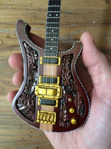 Lemmy Carved Bass Motorhead Collectible Replica Mini Guitar