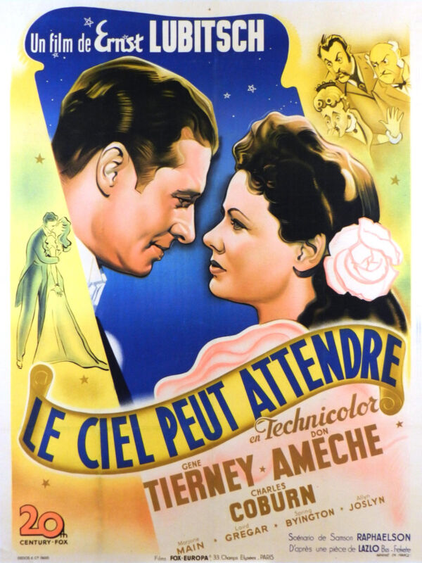 HEAVEN CAN WAIT - ORIGINAL FRENCH POSTER - VERY RARE
