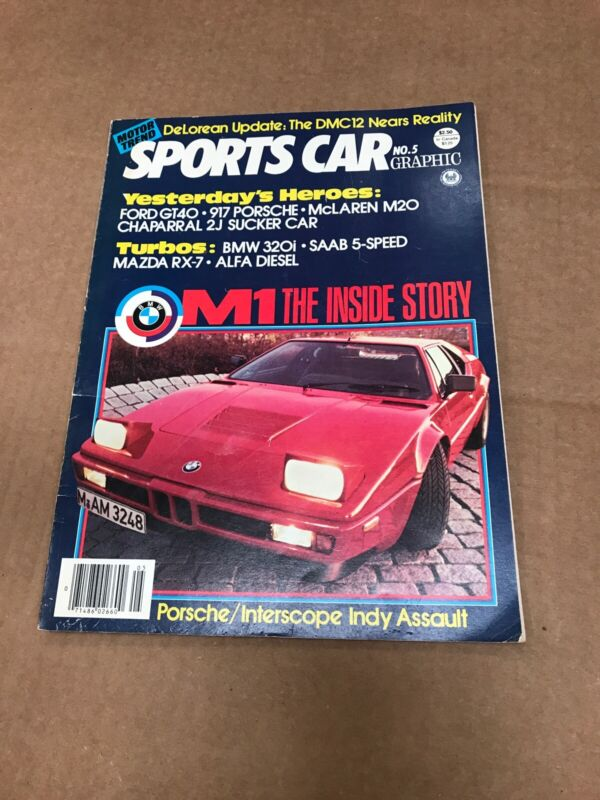 Motor Trend Sports Car Graphic No. 5 Magazine 1980 April/May
