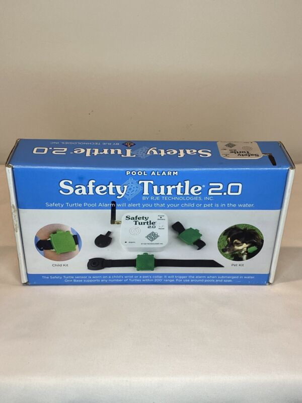 Safety Turtle 2.0 Pool Alarm Child or Pet - Never Used *BASE UNIT ONLY*