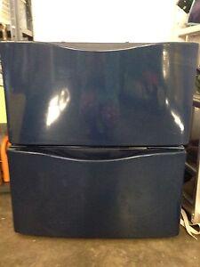 Kenmore Elite blue washer dryer pedestals