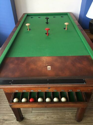 Bar billiards table  - slate bed  - complete with timer