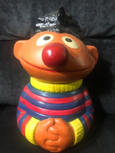 "Sesame Street ""Ernie"" Ceramic Cookie Jar - Muppets Inc #973"