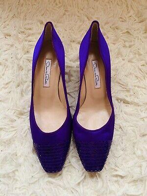 New 100% Authentic Oscar De La Renta Women Purple Shoes Size 7/37.