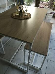 Bench seat and table set