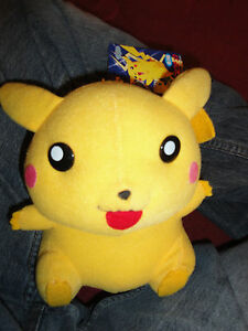 Pokemon-Banpresto-Happy-Pikachu-8-PLush-Very-rare-Bandai-Japan