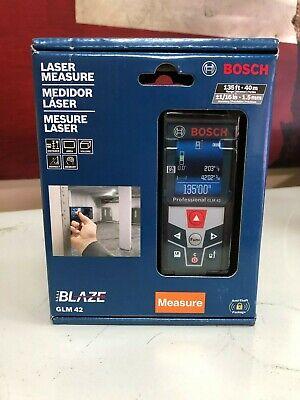 Bosch Glm42 Indooroutdoor Laser Distance Measure Tool W Color Display New