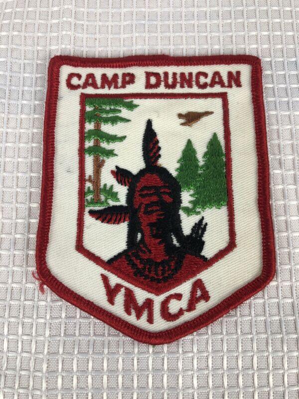 Vintage YMCA Camp Duncan Indian Patch 1975 YMCA Camp Patch 4x3 YMCA Patch 1975