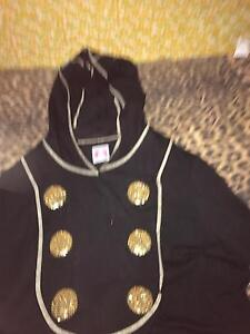 BNWOT SASS And BIDE BLACK Hooded Jacket With Gold Buttons SZ 14 Midland Swan Area Preview
