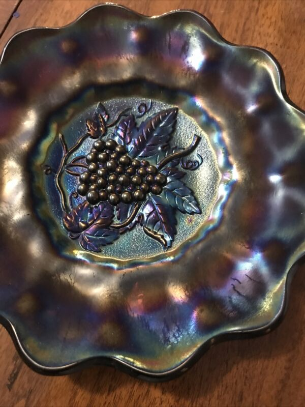 Indiana Carnival Blue Grape Heavy Plate  8""