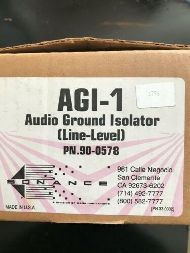 Sonance AGI-1, audio ground isolator