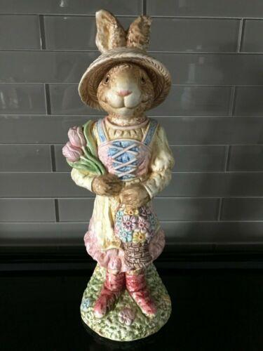 """Porcelain Spring Easter Bunny Rabbit 14"""""""