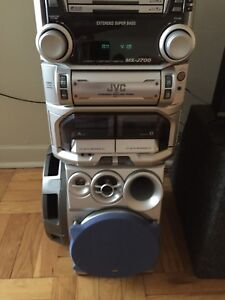 Jvc stereo system with car subwoofers