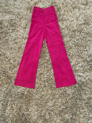 VICTORIA BECKHAM tailored magenta PANTS   Designer occasion high-waist trousers