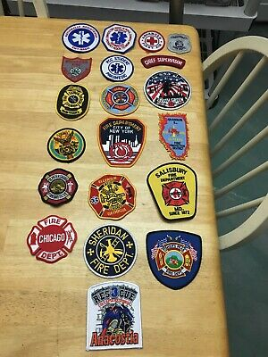 LOT OF 20 FIRE RELATED  PATCHES  FD-03