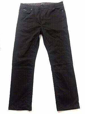 Kenneth Cole New York Mens Black Mini Grid Pattern Casual Pants 36/32 Cotton Grids Pattern Cotton Blends