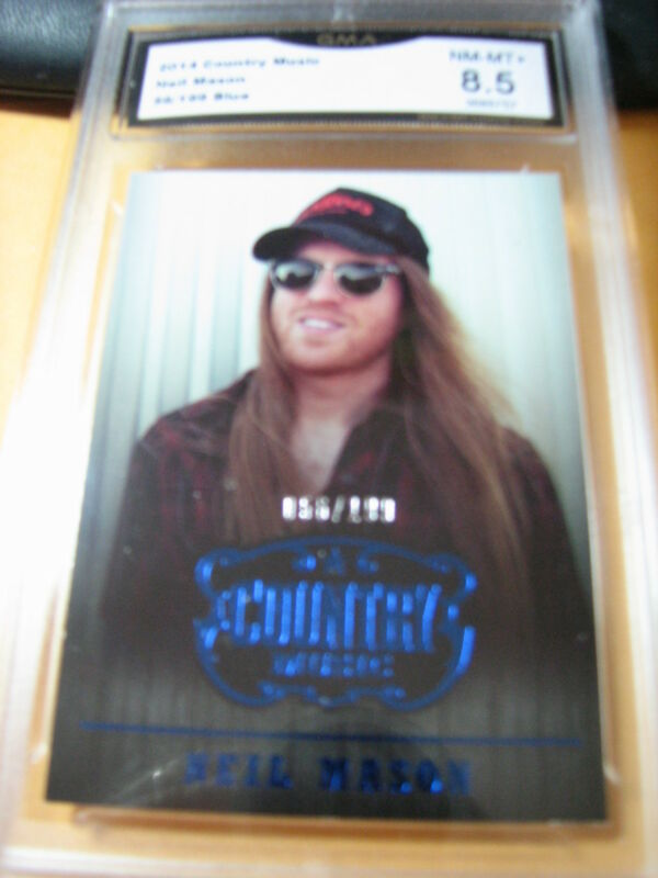 NEIL MASON 2014 COUNTRY MUSIC BLUE # 56/199 GRADED 8.5 L@@@K