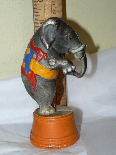 Vintage Circus Elephant Metal Bank