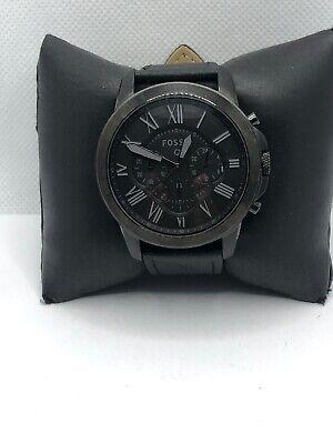 Fossil Q Unisex Black Leather Analog Black Dial Hybrid Smart Wrist Watch HK486
