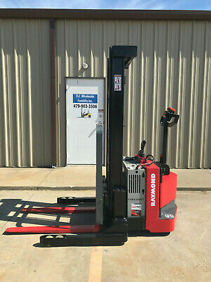 2010 Raymond Rss40 Walk Behind Forklift Straddle- Very Nice 128 3750lb 5093 Hrs