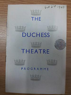 1948 Duchess Theatre programme: Angela Baddeley in EDEN END by J.B. Preiestley