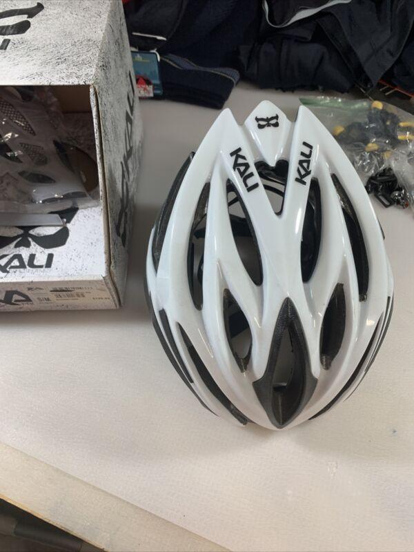 Kali Phantom White Cycling Helmet Size Small Medium 52-58cm  (7303)