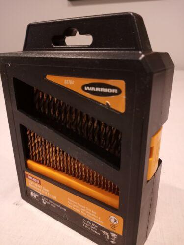 WARRIOR 60 PC TITANIUM NITRIDE HIGH SPEED STEEL NUMBERED DRILL BIT SET SIZE 1-60