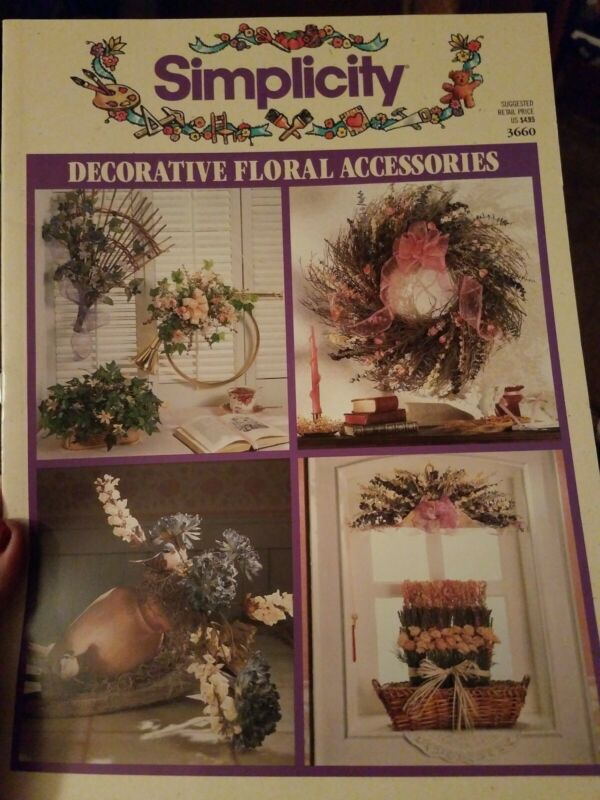 DECORATIVE FLORAL ACCESSORIES PATTERN BOOK