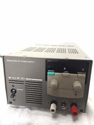 Kikusui Pan 16-30 Regulated Dc Power Supply