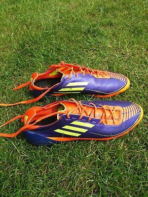 Adidas F50 Adizero Football Boots UK Size 10.5 US 11 Orange/purple USED