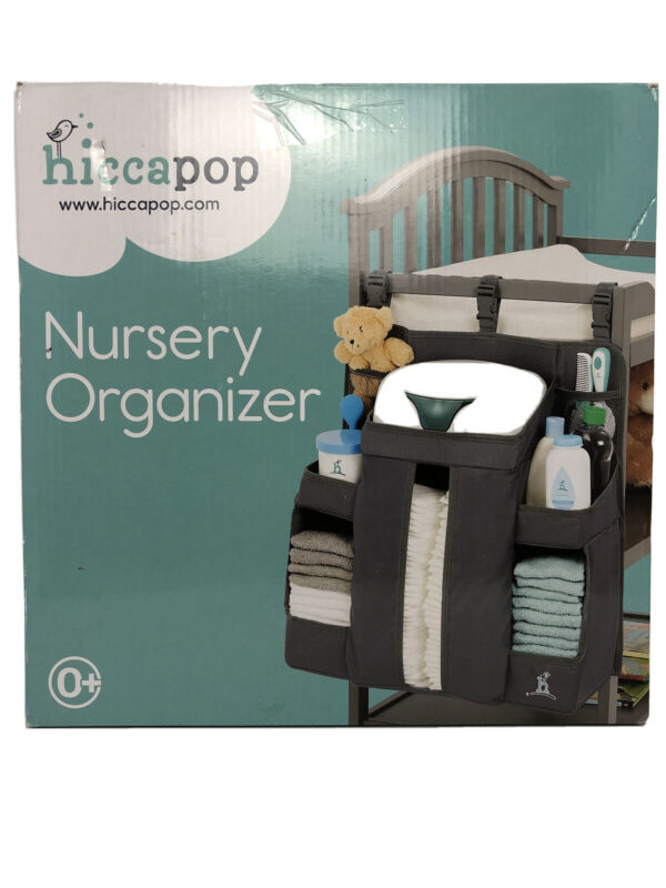 hiccapop Nursery Organizer and Baby Diaper Caddy   Hanging Diaper Organization