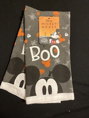Disney Mickey Mouse 2 pack kitchen towels, Halloween, New