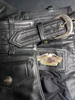 XS Black Leather Women's Harley Davidson chaps