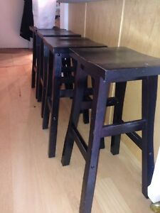 Dark espresso wood bar stools