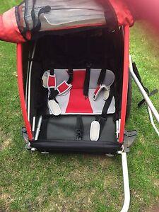 Double seater bike trailer