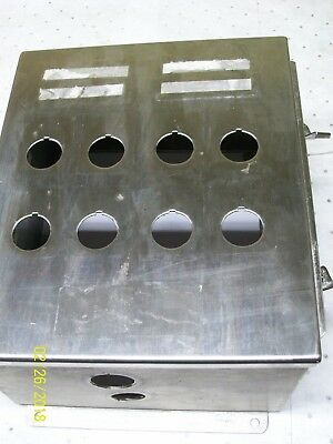 Hoffman 12 X 10 X 6 Stainless Steel Enclosure Junction Box A-12106chnss