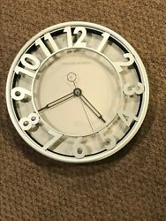 Wall Clock - Silver   Sterling & Noble