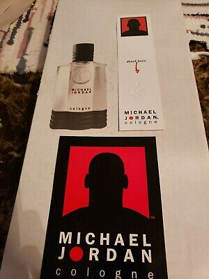 Lot of (3) Michael Jordan Cologne Paper ad Promotion Material Cards
