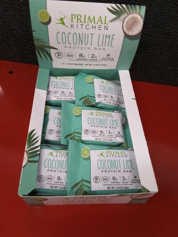 Primal Kitchen - Keto Friendly Protein Bars Box Coconut Lìme  - 12 Bars
