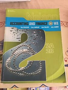 ATAR/WACE accounting and finance books Kardinya Melville Area Preview